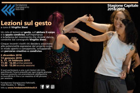 MILANO | LEZIONI SUL GESTO <br>  DOMENICA 2 DICEMBRE