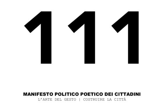 <b>MANIFESTO 111</b>