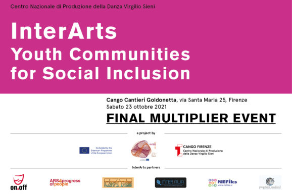 <b> FINAL MULTIPLIER EVENT InterArts: Youth Communities for Social Inclusion </b>  CANGO, FIRENZE